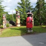 Totem Poles outside the entrance