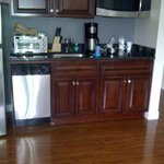 Kitchen area, very nice and convenient.