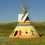 Colorful tipi