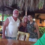 Annette & Ronnie with Shelly the greatest bartender @ the Resort she will make you a great drink