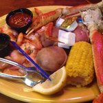 Snow crab and shrimp steamed platter