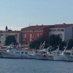 The Valamar Riviera is the red building