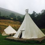 Plenty of room for us with our tipi and bell tent