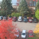 Fall season views from the room - the front parking lot