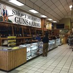 The new gun section inside Smoky Mountain Knife Works called Smoky Mountain Guns and Ammo.
