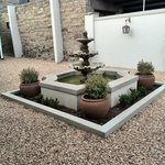 Clean and tidy outdoor area to sit and relax