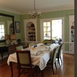 Sunday breakfast in formal dining room