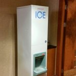 Ice cube machine outside room