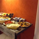 One of the breakfast buffet tables
