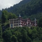 The hotel seen from the lake of Brienz