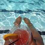 Enjoying my poolside Mai Tai. I got the best tan in San Diego!