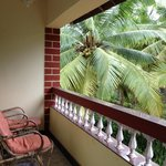 our private balcony - with two chairs and a table