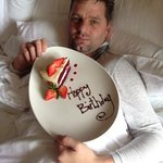 Birthday in bed