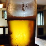Cold beer on a hot day at Millers Arms