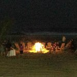 Bonfire on the beach complete with marshmallows