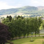 View from our room on the 3rd Floor, towards Pitlochry