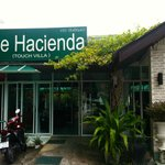 The entrance to Hacienda hotel