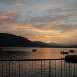 Sunrise over Lake Maggiore, view from our tent