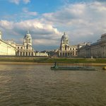 views from a river ferry of Greenwich
