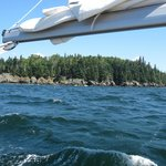 Island in Penobscot Bay from aboard Sailing Vessel Owl