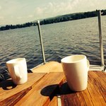 Morning coffee on the dock :)