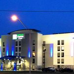Holiday Inn Express & Suites Jackson-Coliseum at night!