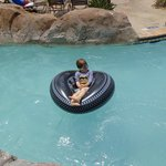 Grandson enjoying the Lazy River - Lazy Boy!