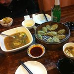 Dumplings and egg soup