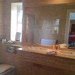 Lovely Large Bathroom with separate bath and powerful shower.