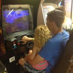arcade game fun in rec hall
