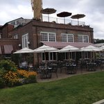 view of the restaurant from the river