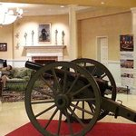 Authentic Civil War cannon in lobby