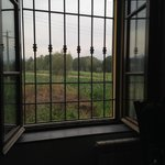 Our room looked out at beautiful country fields