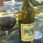 Enjoy a local wine on the secluded, shaded patio for Garden Room.