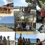 collage of photos at resort