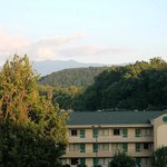 View from fourth floor room looking south toward Gatlinburg