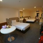 July 2014 2 single beds + 1 double bed