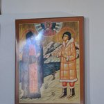 Icon of priest and native