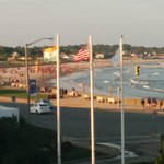 View of Narragansett town beach from the balcony.
