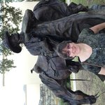 Cowboy and his horse near the museum entrance.  Ths cowgirl is mine.  No photographs are allowed
