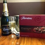 Champagne and Chocolates for the wife