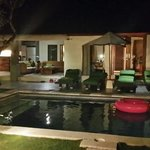 Villa hibiscus at night