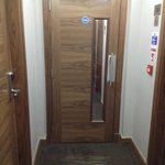 This door separates isles from section to section. Very useful to keep noise away from rooms