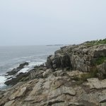 Hiking to Thunder Hole Harpswell (note:  No Crowds in peak August season unlike Bar Harbor)