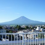The Majestic Mt Fuji from the Konansou Rooftop
