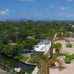 8th floor terrace overlooking the New River & Downtown Fort Lauderdale