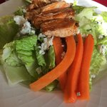 Skip room service! buffalo chicken salad-had many times in the restaurant. This is CLOSE up. Thi