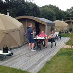 Dining on the decking