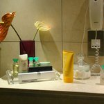 Luxury cosmetics at private pool suite