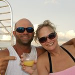 Captain Brian, me & my mimosa